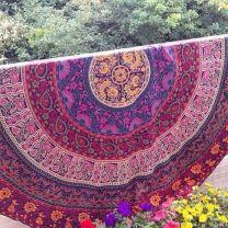 Indiaas Mandala Handgemaakt Kleed Rond- Amala