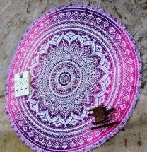 Indiaas Mandala Handgemaakt Kleed Rond- Haora