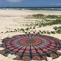 Indiaas Mandala Handgemaakt Kleed Rond- Kota