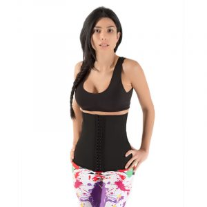 Ultimate Sports Latex Waist Shaper met stalen baleinen-0