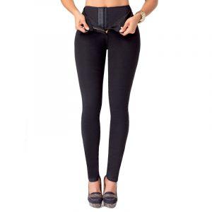 Push-Up Jeans met taillevormer - Zwart-0