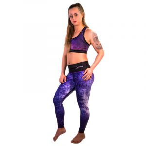 Sportlegging met BH Yoga Fitness Galaxy Edition